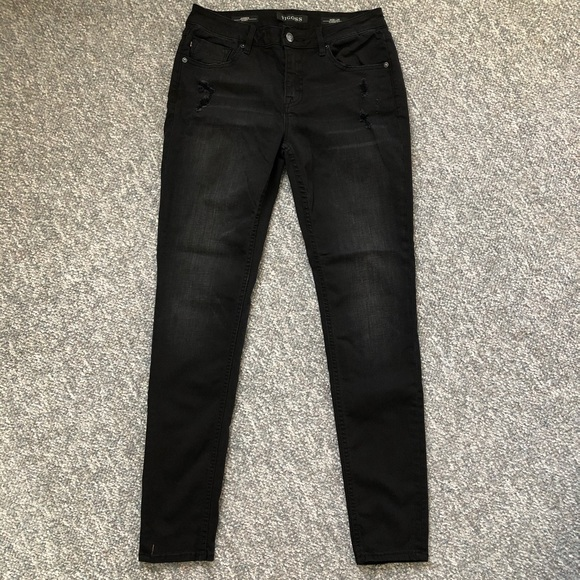 Vigoss Denim - Vigoss Jagger skinny jeans distressed black Sz 28